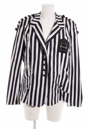Airfield Sweat Blazer white-dark blue striped pattern business style