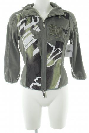 Airfield Sweat Jacket green grey abstract pattern casual look