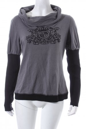 Airfield Sweatshirt grau-schwarz Casual-Look