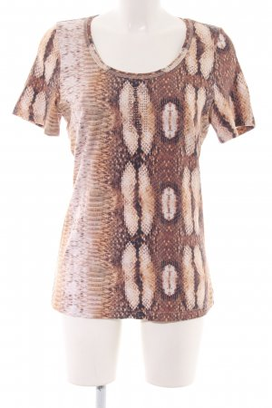 Airfield T-Shirt brown-cream animal pattern casual look