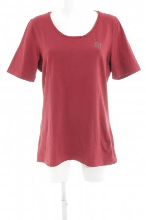 Airfield T-Shirt dark red casual look