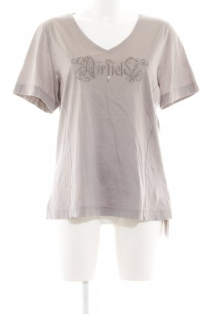 Airfield T-Shirt light grey embroidered lettering casual look