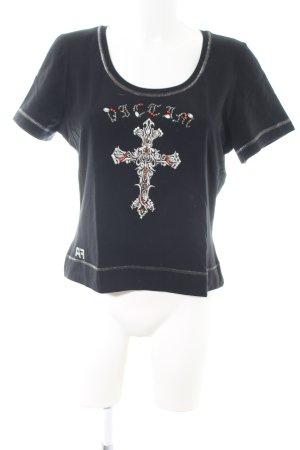 Airfield T-Shirt schwarz Motivdruck Casual-Look
