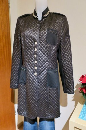 Airfield Quilted Coat black-grey polyester