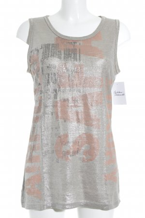 Airfield Tank Top silver-colored-black casual look