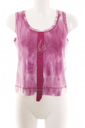 Airfield Strappy Top pink-white color gradient casual look