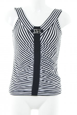 Airfield Strappy Top black-white striped pattern simple style