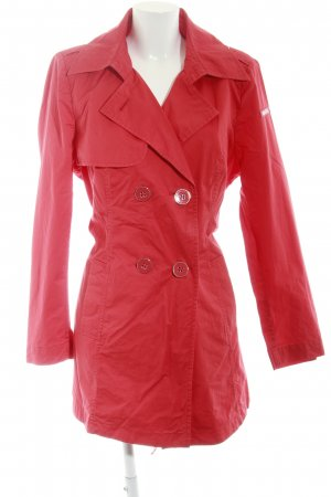 Airfield Trench Coat red-silver-colored casual look