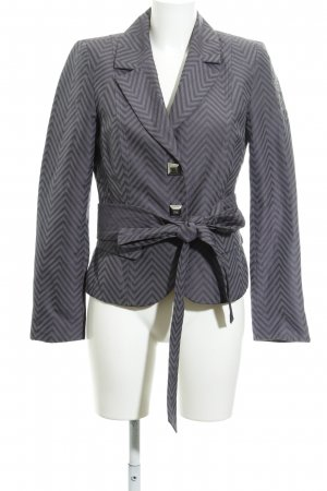 Airfield Tweed Blazer grey-dark violet zigzag pattern elegant