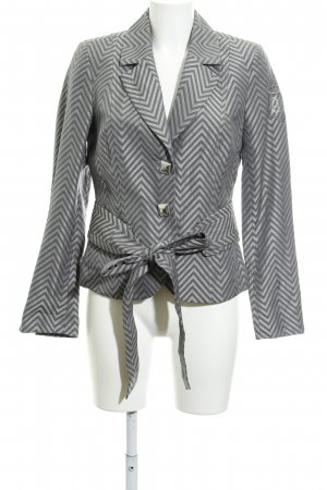 Airfield Tweed Blazer light grey-grey zigzag pattern elegant
