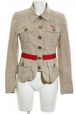 Airfield Between-Seasons Jacket beige-red athletic style