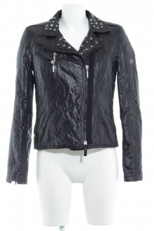 Airfield Between-Seasons Jacket black biker look