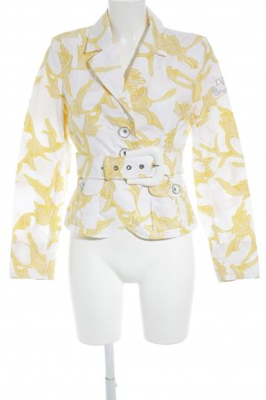 Airfield Between-Seasons Jacket white-yellow floral pattern casual look