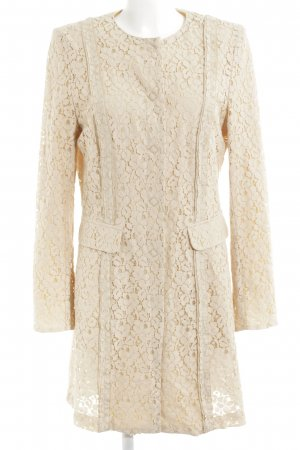 Airfield Between-Seasons-Coat nude flower pattern lace look