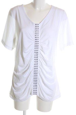 Airfield V-Ausschnitt-Shirt weiß Elegant