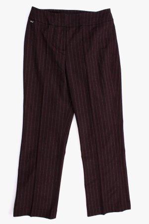 Airfield Pantalone di lana marrone-rosso mora