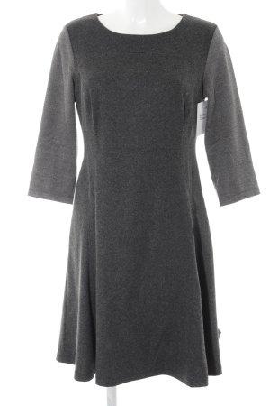 Airfield Vestito di lana grigio scuro-bianco puntinato stile casual