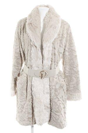 Airisa Cappotto in eco pelliccia beige chiaro stile casual
