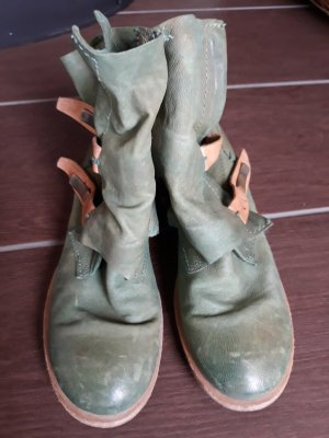 Airstep Zipper Booties mint leather