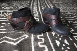 A.S.98 Sandales à talon haut noir-brun noir cuir