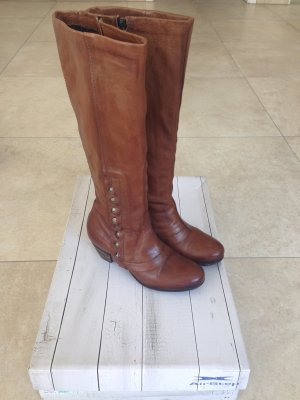 A.S.98 High Boots cognac-coloured leather