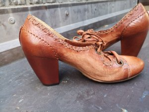 Airstep Pumps cognac-coloured-dark orange leather