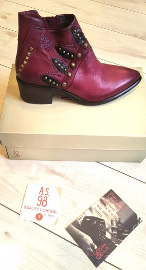 Airstep Booties carmine-bordeaux leather