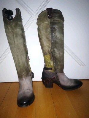 Airstep Heel Boots grey-green grey mixture fibre