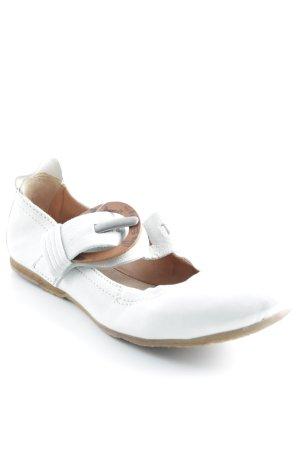 Airstep faltbare Ballerinas creme-braun Casual-Look
