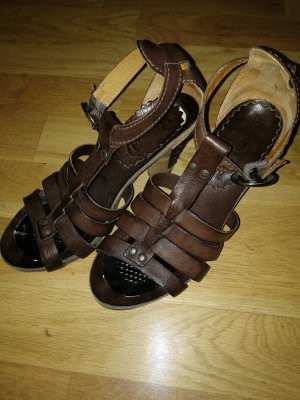 Air Step Sandals dark brown