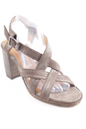 Airstep High Heel Sandaletten graubraun Casual-Look