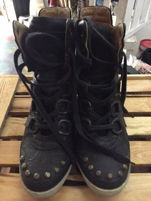 Airstep Basket compensée noir cuir