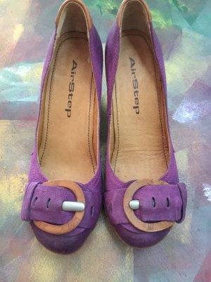 Airstep Escarpins Mary Jane violet-rose cuir