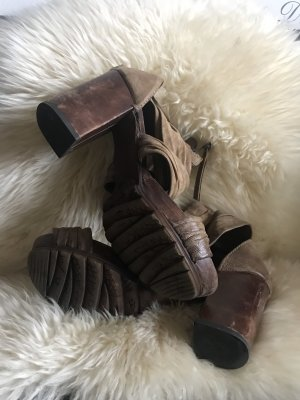 Airstep Sandalo con plateau marrone scuro-marrone-grigio