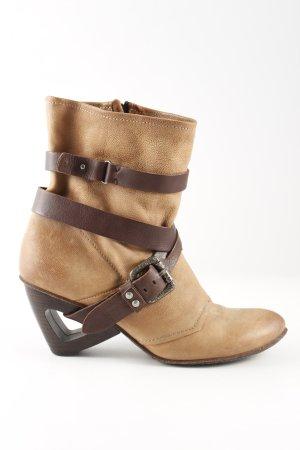 Airstep Slip-on Booties beige-dark brown extravagant style