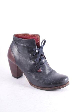 Airstep Schnür-Stiefeletten dunkelgrau-braun Street-Fashion-Look