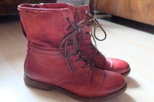 AIRSTEP Schnürschuhe / Boots  rot 38