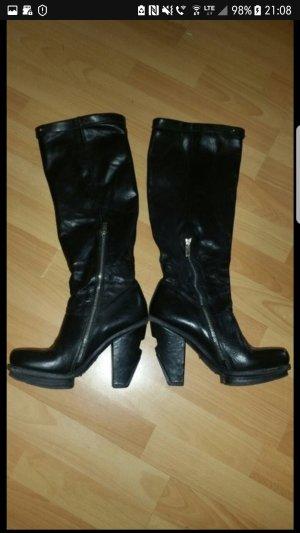 A.S.98 Botte haute noir cuir