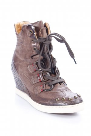Airstep Wedge Sneaker braun-hellbraun Street-Fashion-Look