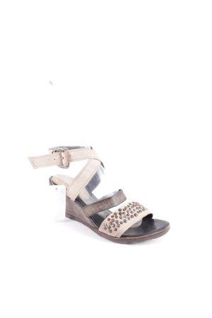 Airstep Wedge Sandals dark brown-oatmeal Boho look