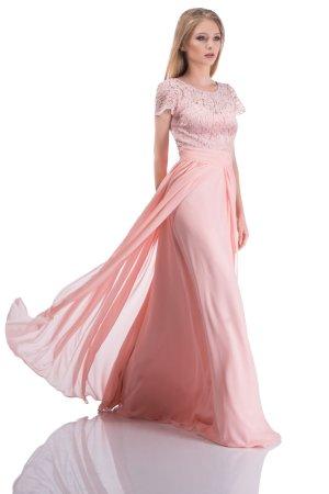 Abito da ballo rosa pallido