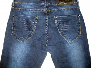 AJ Armani Jeans dunkelblau Denim 5 Pocket Röhre Röhrenjeans W26 32 34 XXS XS TOP