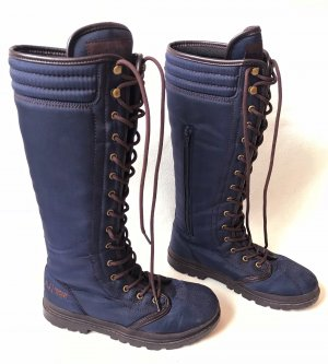 Armani Jeans Lace-up Boots dark blue-brown