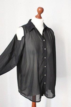 AJC Cold shoulder blouse damen Schwarz Gr.34 NEU mit Etikett