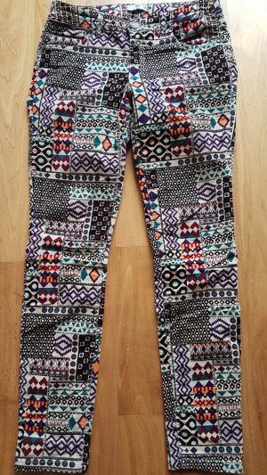 AJC Pantalone di velluto a coste multicolore