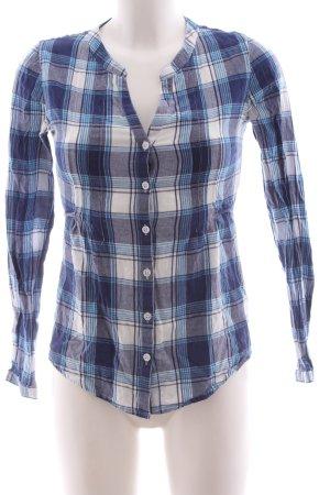 AJC Hemd-Bluse blau-weiß Karomuster Casual-Look