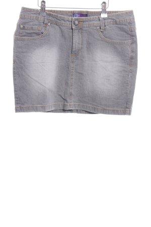 AJC Denim Skirt light grey casual look