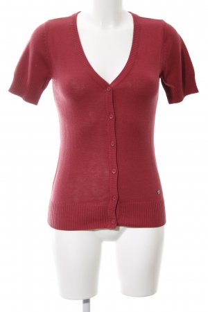 AJC Short Sleeve Knitted Jacket red casual look