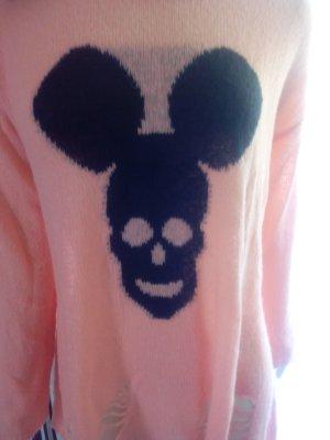 AJC*lässiger Pulli*Cut*Totenkopf Mickey*L