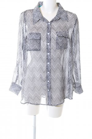 AJC Long Sleeve Blouse white-blue allover print casual look